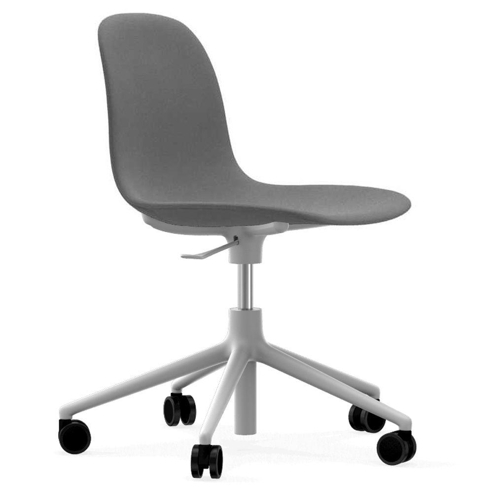 Normann Copenhagen Form Chair bureaustoel met wit onderstel Fame 60078 grijs kopen