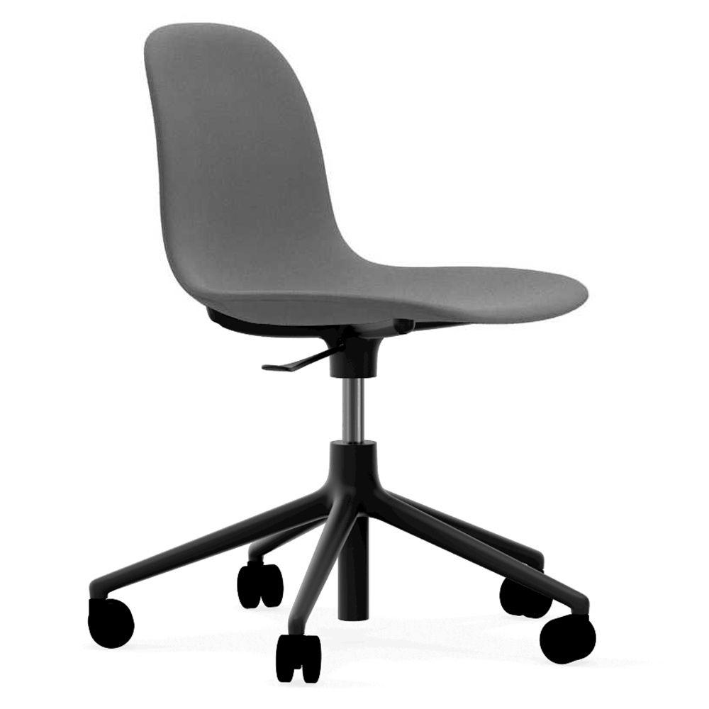 Normann Copenhagen Form Chair bureaustoel met zwart onderstel Fame 60078 grijs kopen