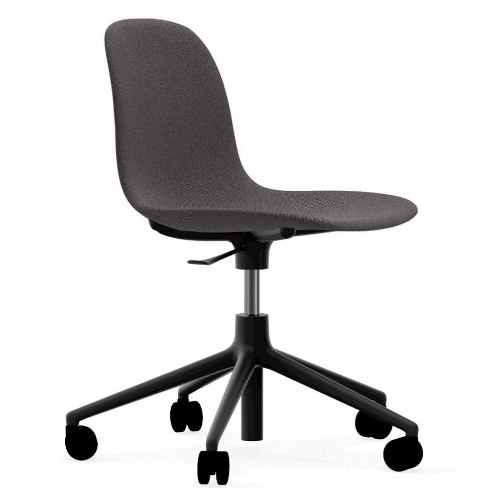 Normann Copenhagen Form Chair bureaustoel met zwart onderstel Breeze Fusion 4103 grijs kopen