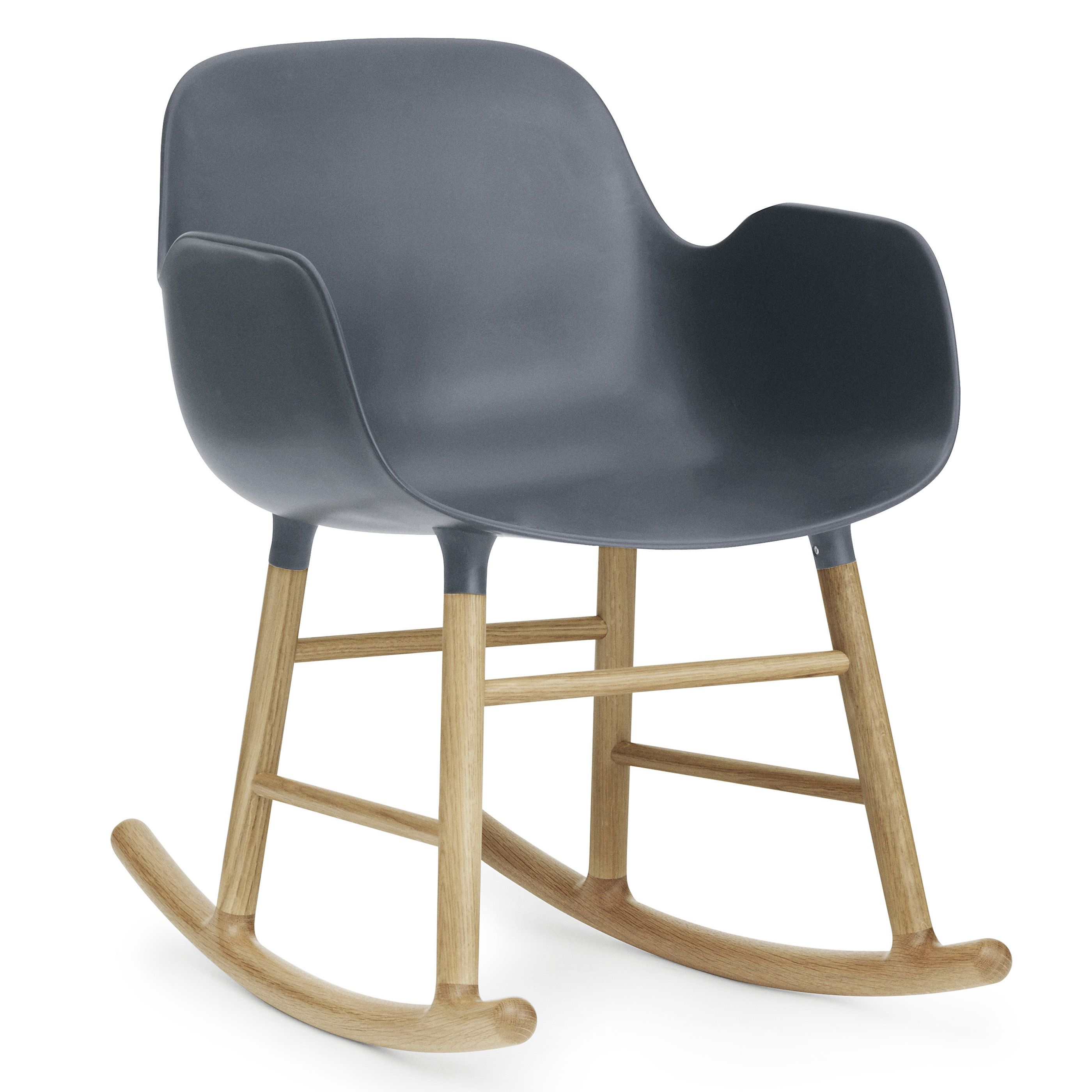 Normann Copenhagen Form Rocking Armchair schommelstoel met eiken onderstel blauw kopen
