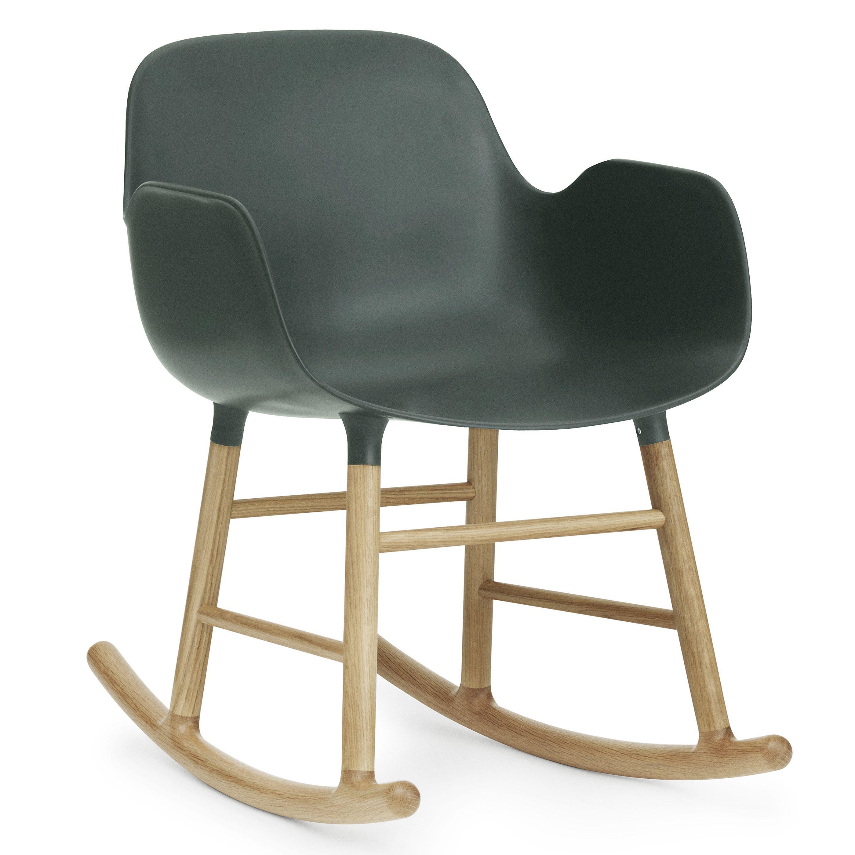 Normann Copenhagen Form Rocking Armchair schommelstoel met eiken onderstel groen kopen
