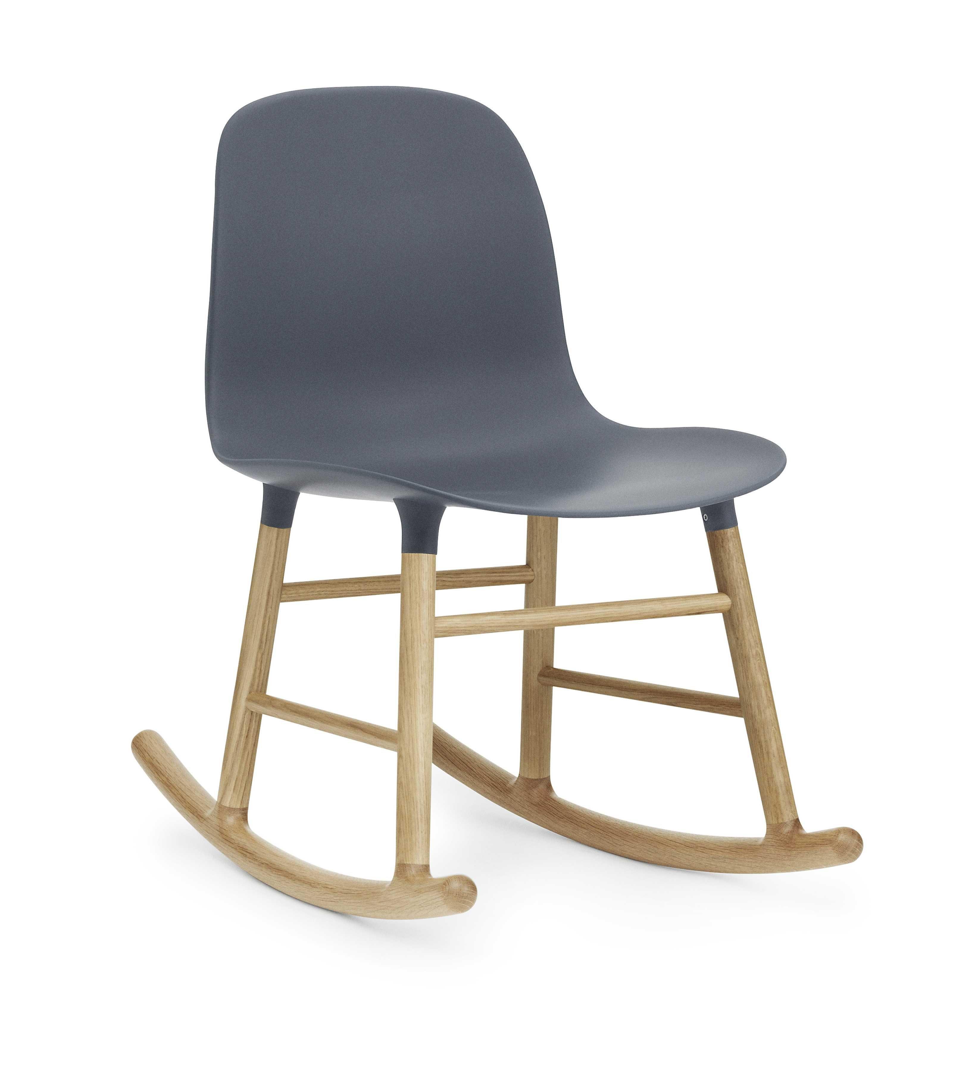 Normann Copenhagen Form Rocking Chair schommelstoel met eiken onderstel blauw kopen