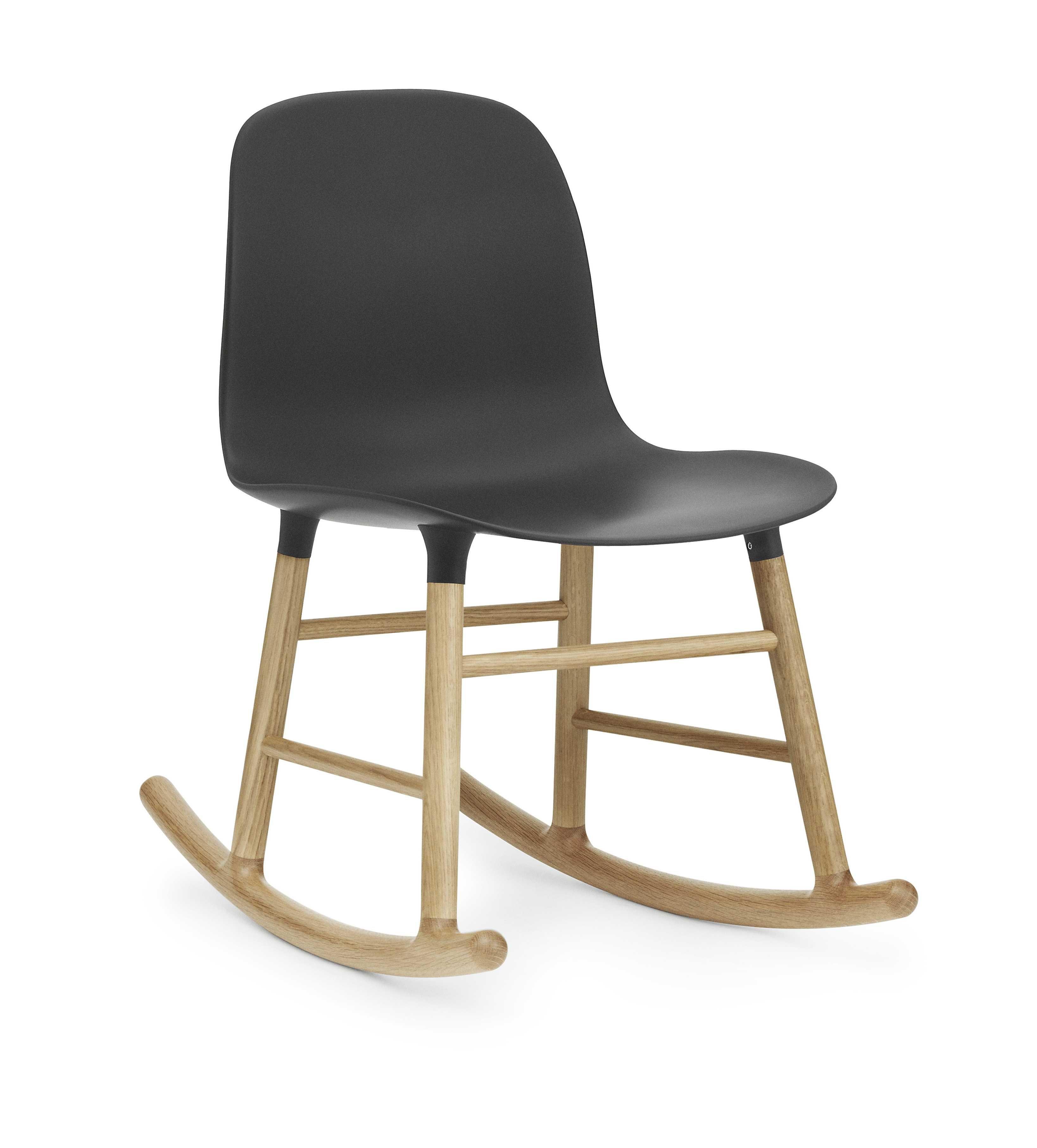 Normann Copenhagen Form Rocking Chair schommelstoel met eiken onderstel zwart kopen