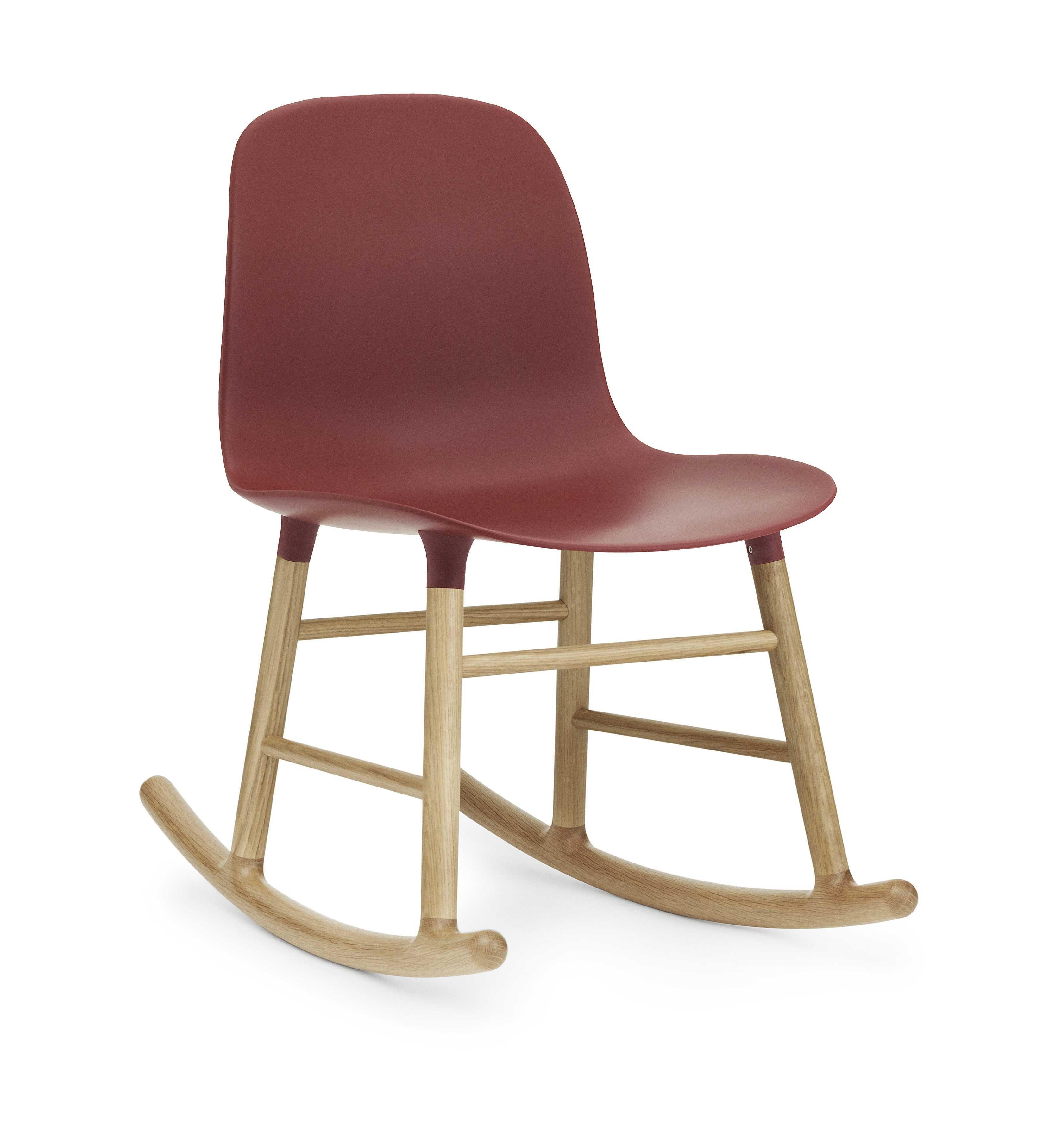 Normann Copenhagen Form Rocking Chair schommelstoel met eiken onderstel rood kopen
