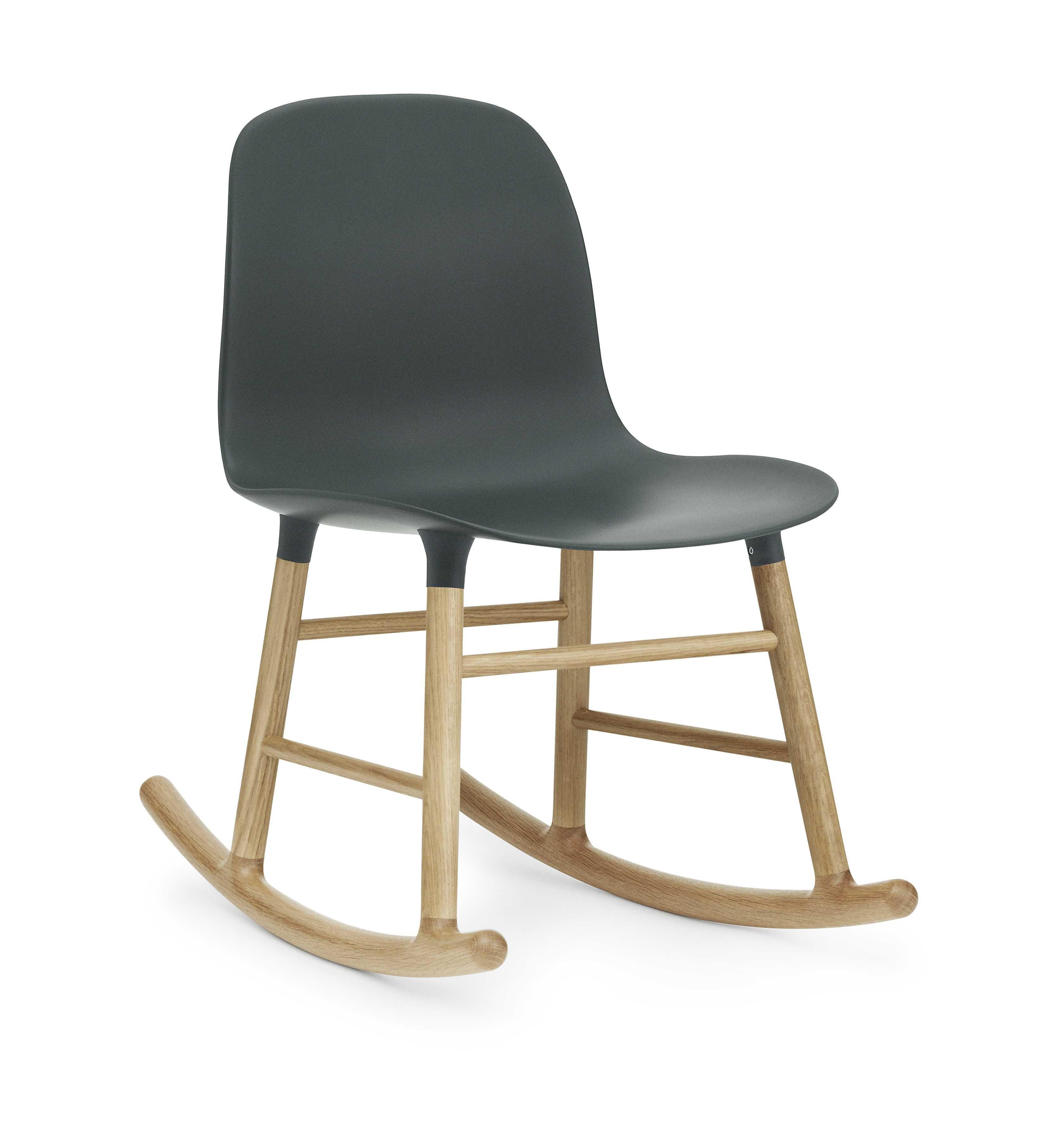 Normann Copenhagen Form Rocking Chair schommelstoel met eiken onderstel groen kopen