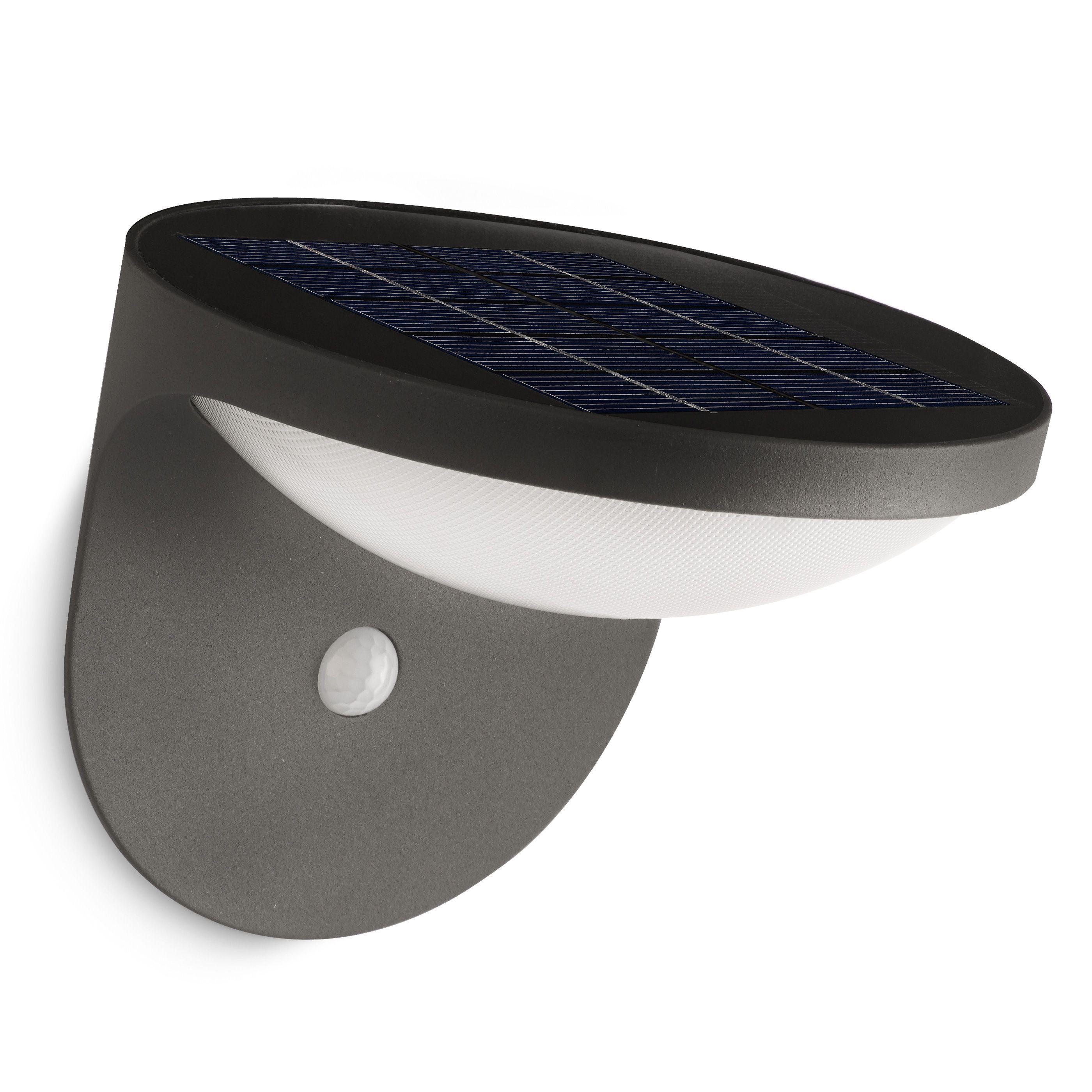 Philips Dusk buitenlamp antraciet met zonnecel en bewegingssensor