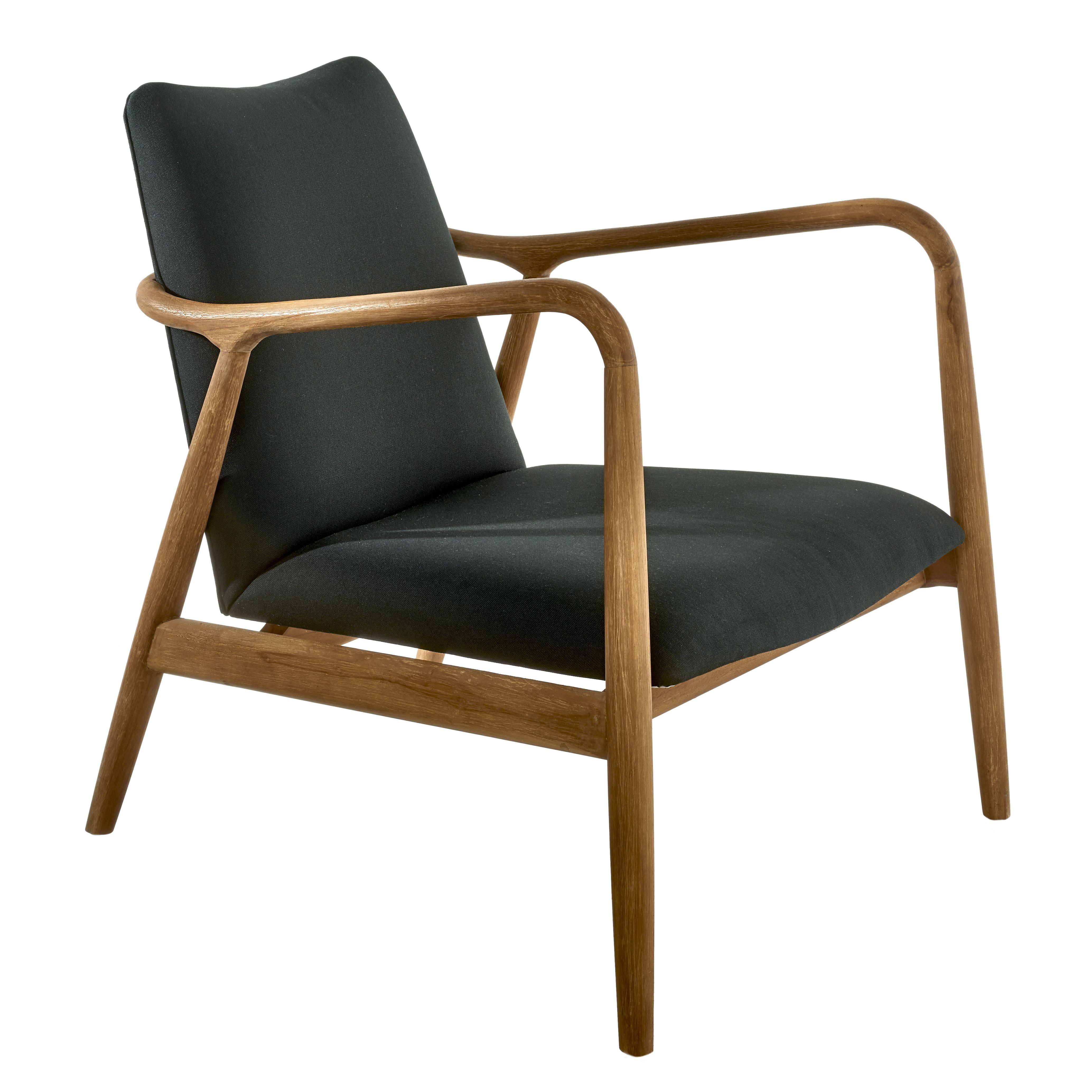 Pols Potten Chair Charles fauteuil zwart/hout kopen