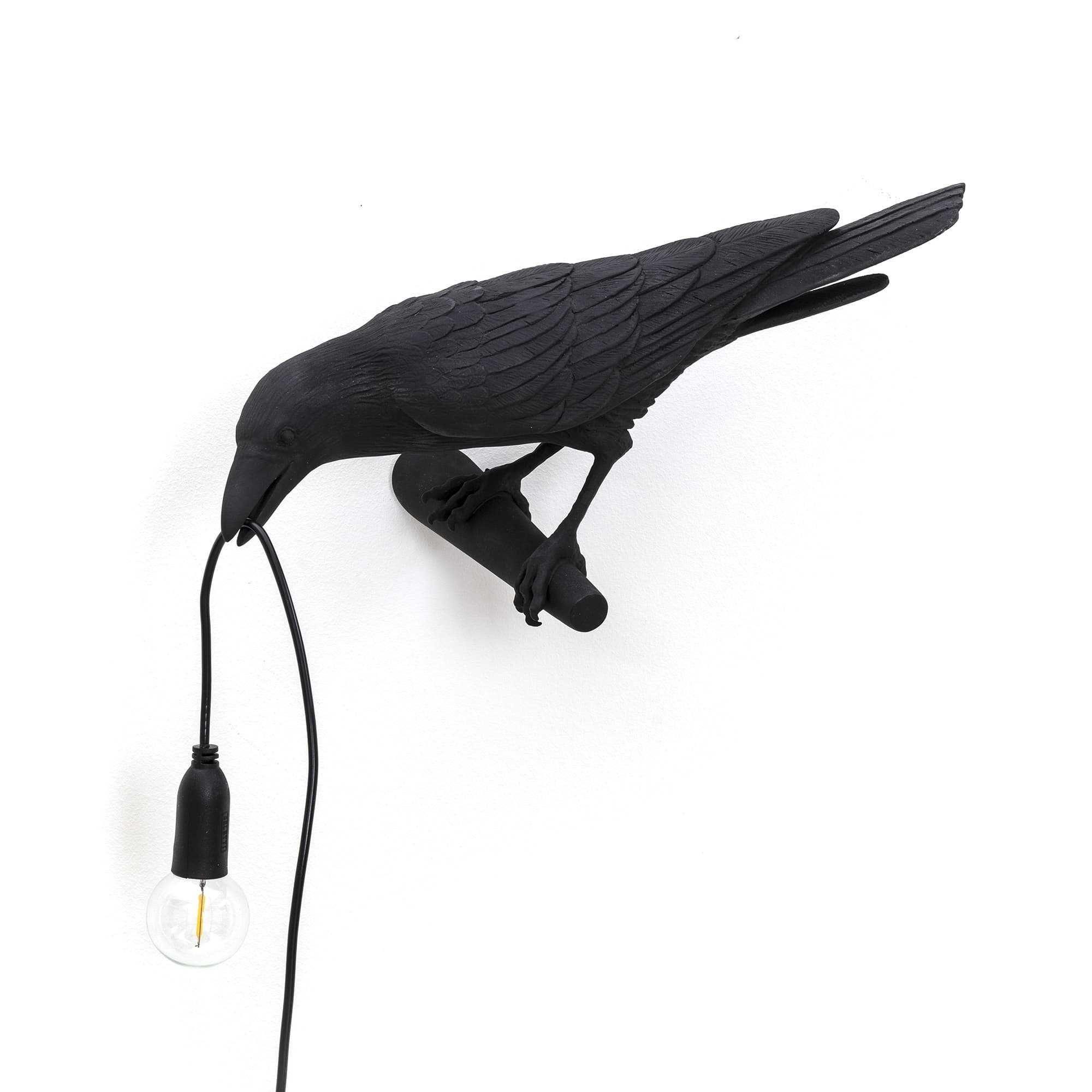 Seletti Bird Looking wandlamp links zwart