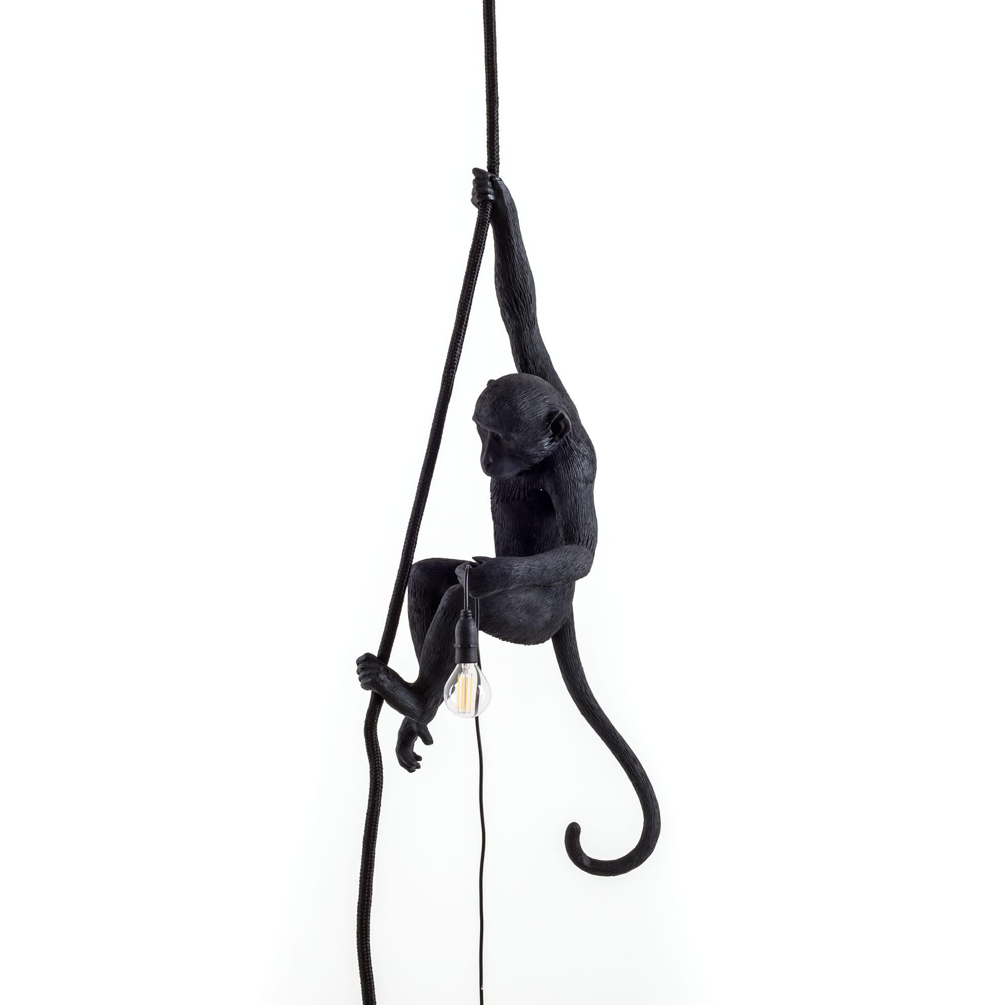 Seletti Monkey Ceiling hanglamp zwart