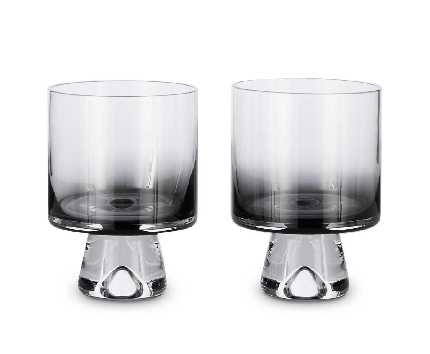 Tom Dixon Tank Low Ball glas set van 2 zwart kopen