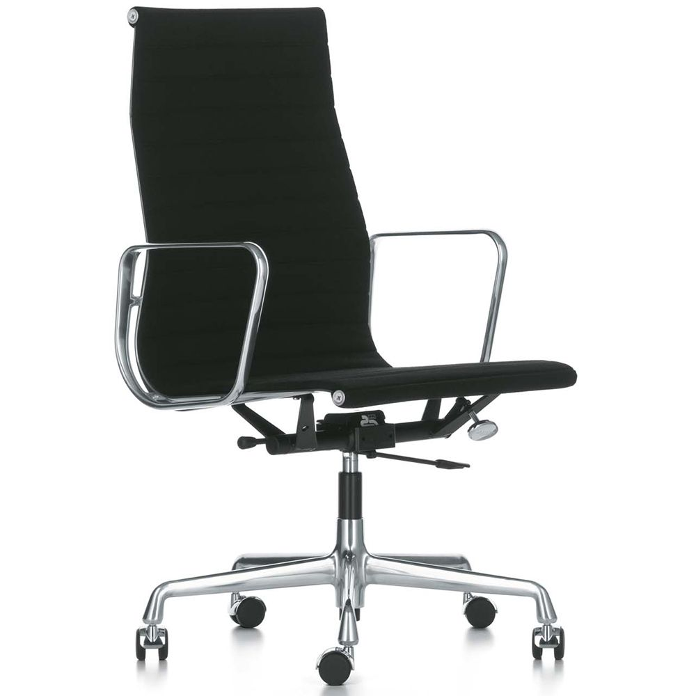 Vitra EA 119 bureaustoel Hopsak zwart onderstel gepolijst kopen