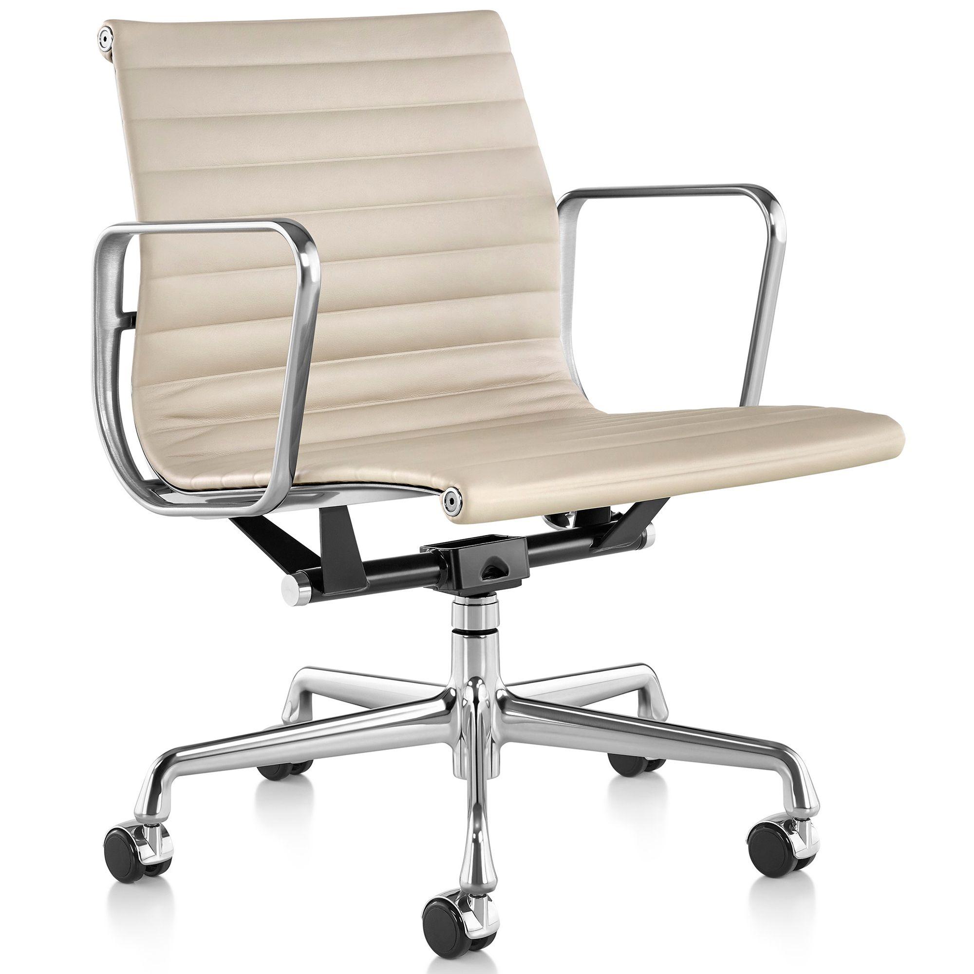 Onderstel Bureaustoel Te Koop.Aanbieding Vitra Ea 117 Bureaustoel Leder Wit Onderstel Verchroomd