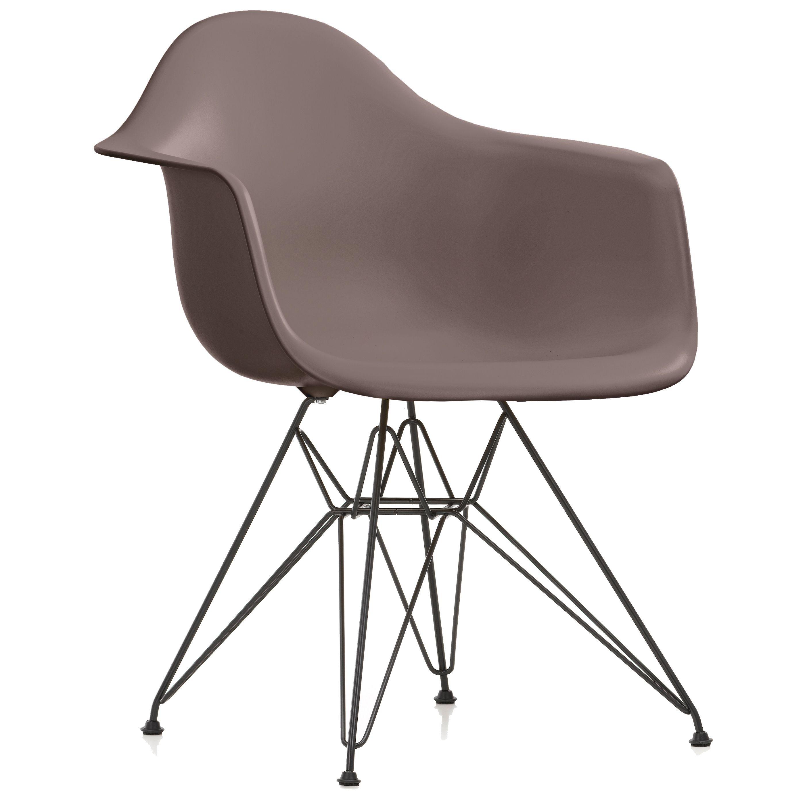 Vitra DAR stoel kuip mauve grijs onderstel zwart gepoedercoat