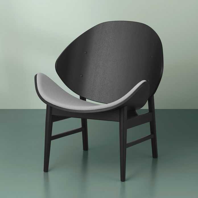 Warm Nordic The Orange fauteuil zitting gestoffeerd