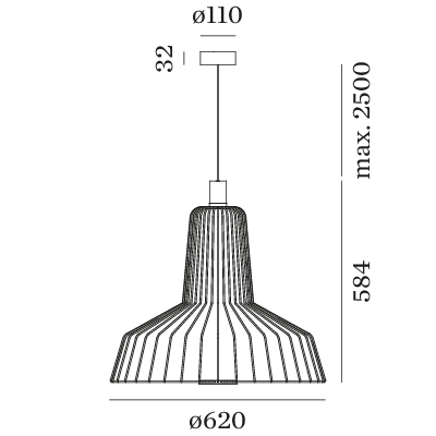 Wever Ducré Wiro Industry 2.0 hanglamp
