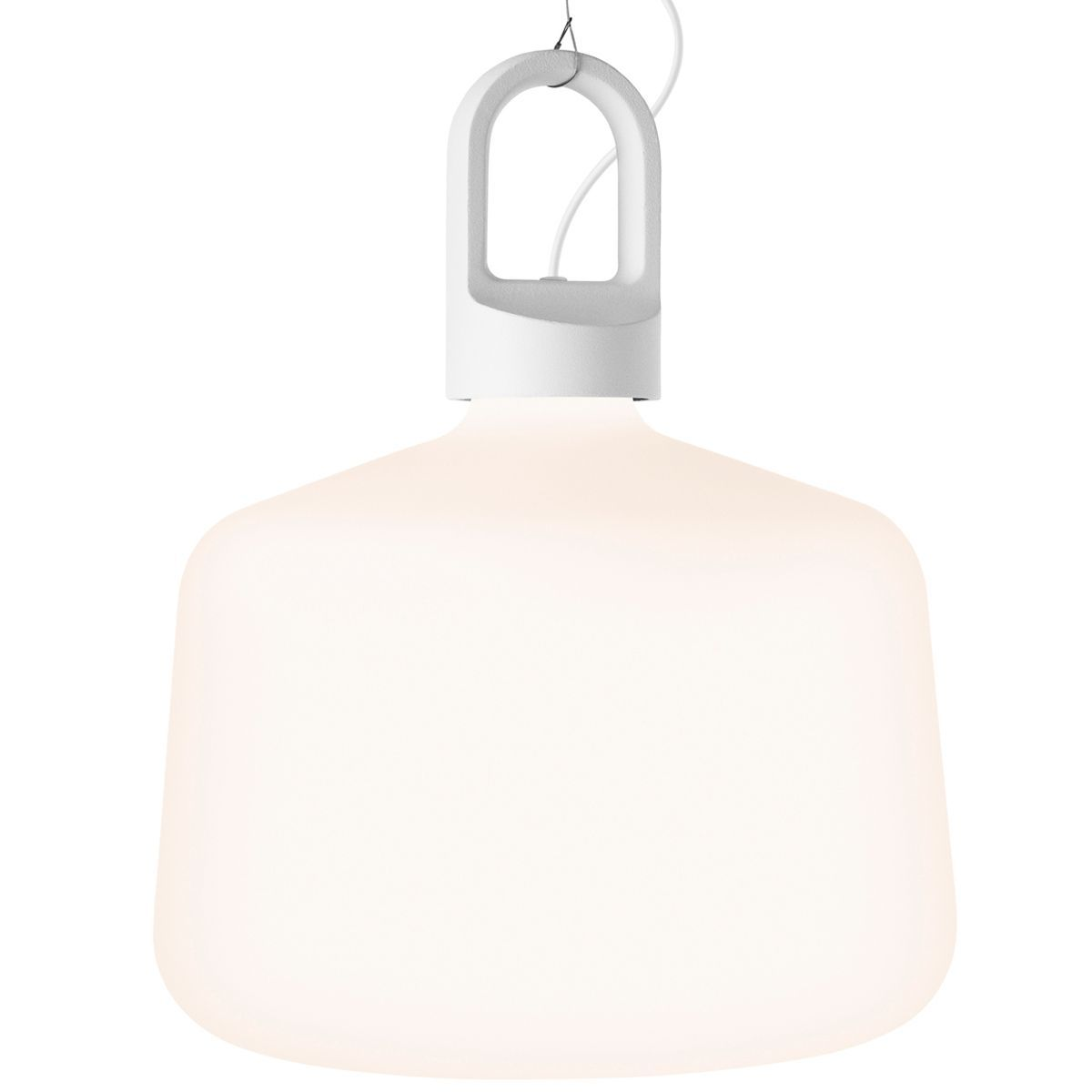 Zero Bottle hanglamp fluo wit