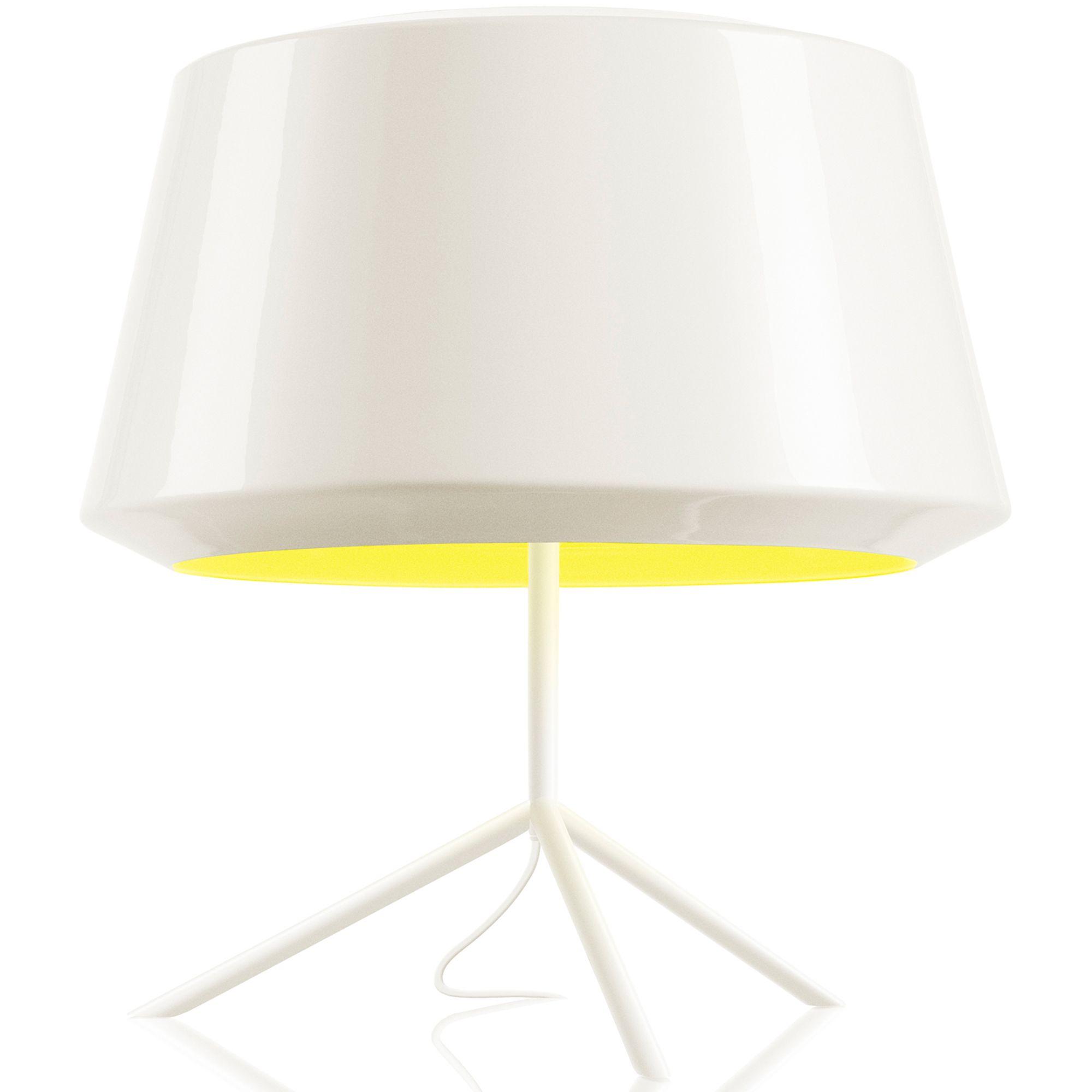 Zero Can tafellamp wit/geel