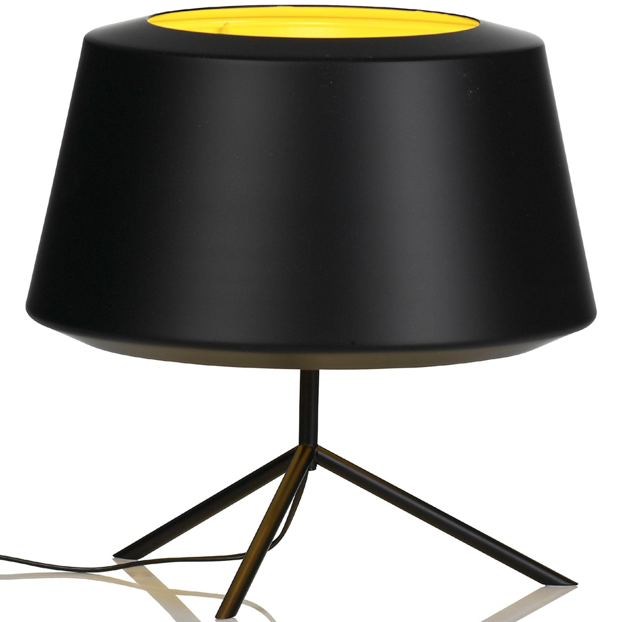 Zero Can tafellamp zwart/geel