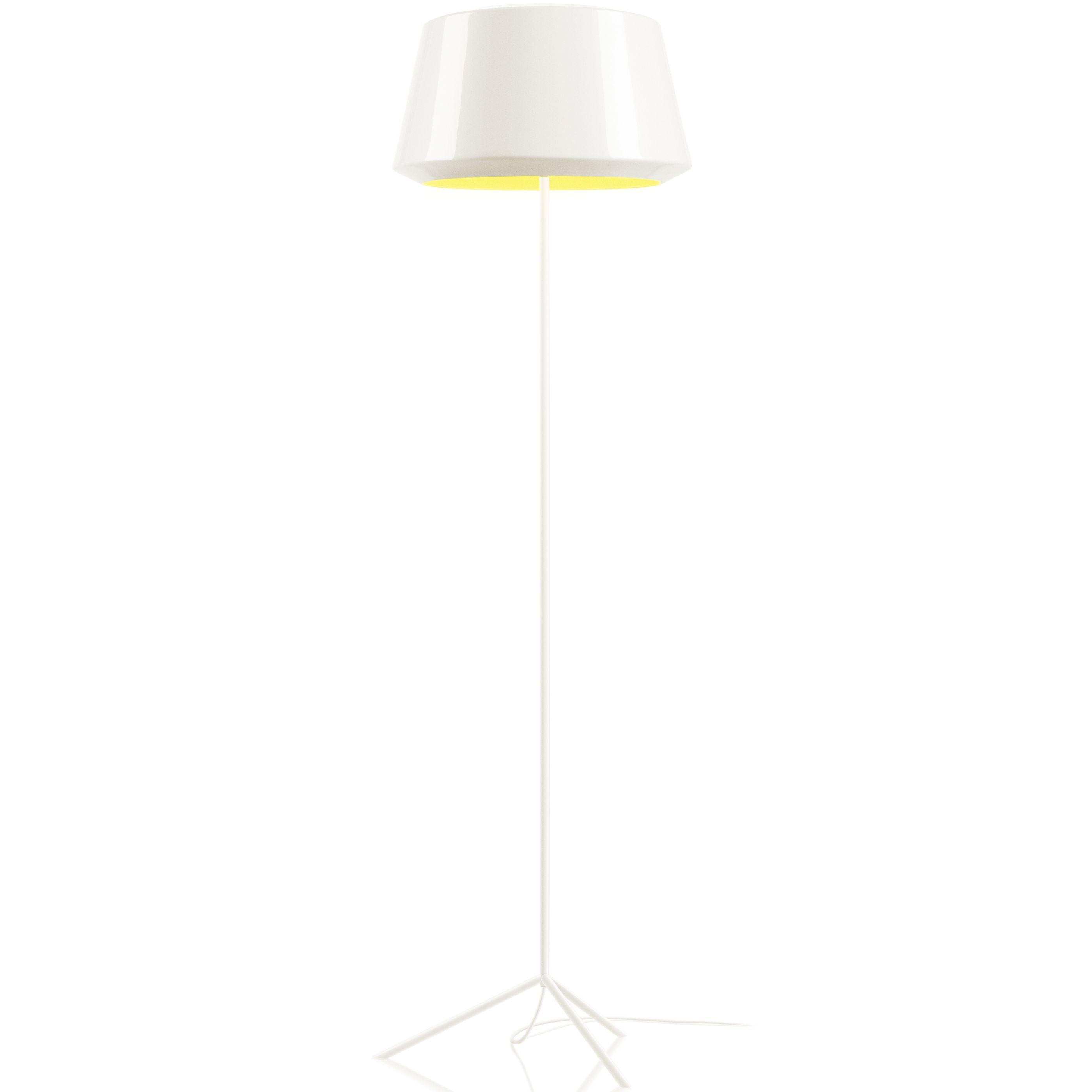 Zero Can vloerlamp wit/geel