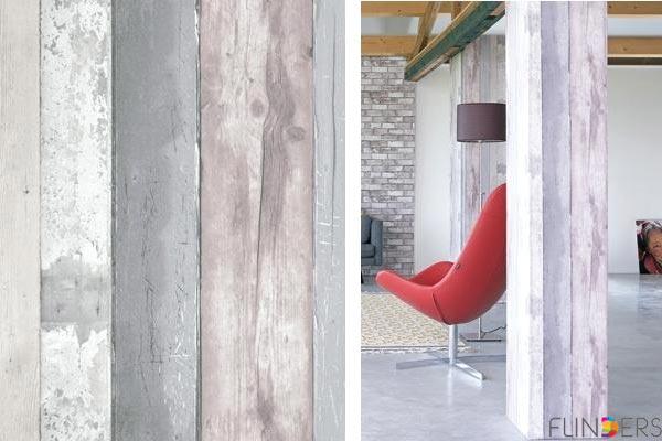 Steigerhout Behang Slaapkamer : Steigerhout behang. stunning slaapkamer met steigerhout behang