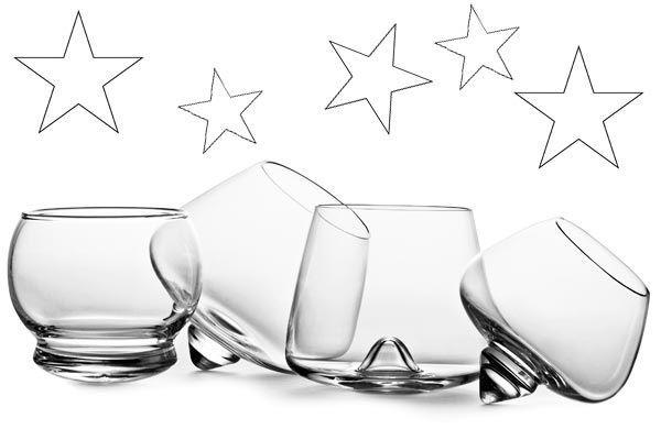 Luid 2012 in met mooie whiskeyglazen en cognacglazen