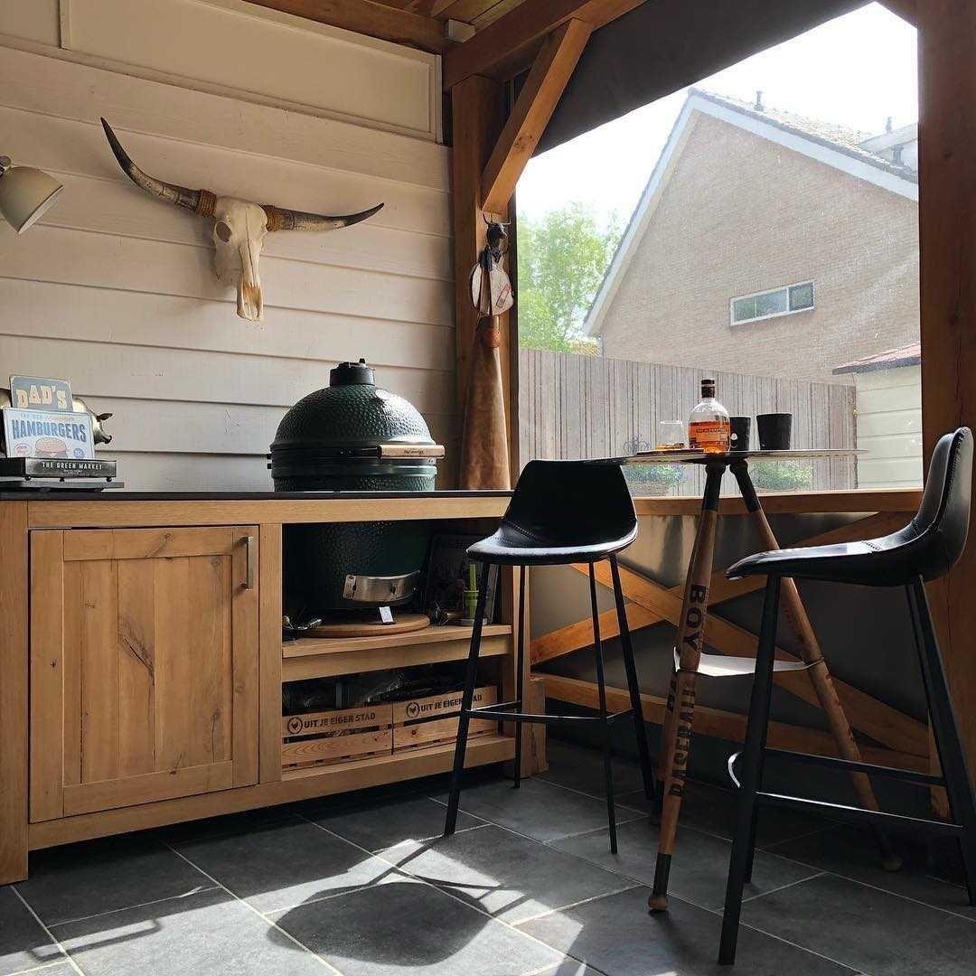Woonkamer Woonkamer inspiratiefoto met Dutchbone Barkrukken