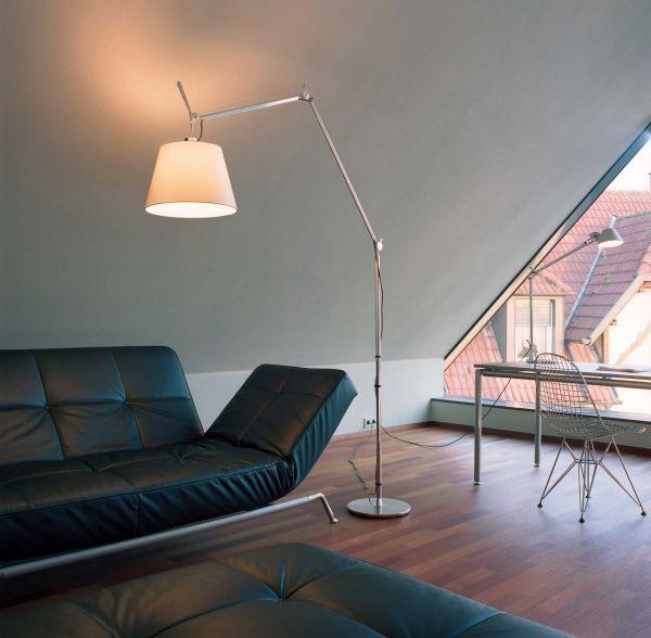 Artemide Tolomeo Mega Terra vloerlamp LED met snoerdimmer aluminium
