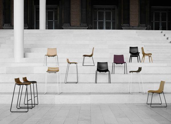 Carl Hansen & Son Preludia Sled stoel met zitkussen