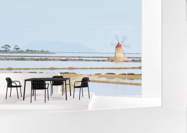 Emu Yard tuinset 160x98 tafel + 4 stoelen (armchair)