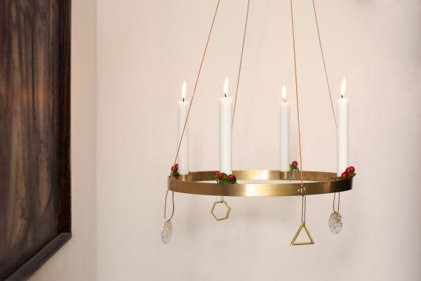 Ferm Living Brass Ornament Triangle kersthanger