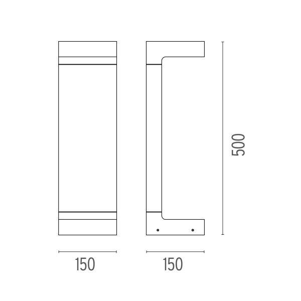 Flos Casting C 150x500 sokkellamp LED 2700K