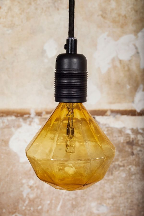 Frama Diamond Lights E27 Halogeen 8W lichtbron cognac dimbaar