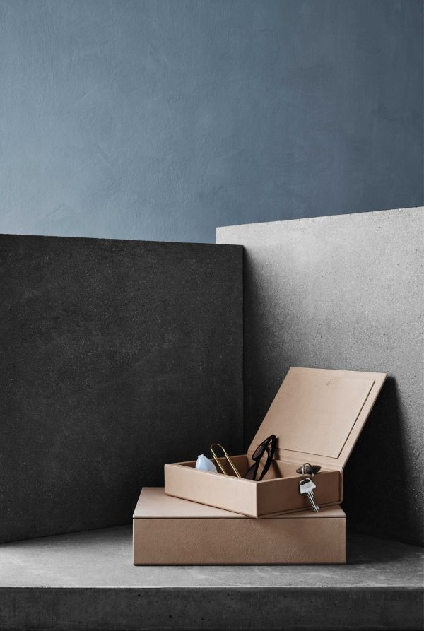 Fritz Hansen Leather opbergbak small
