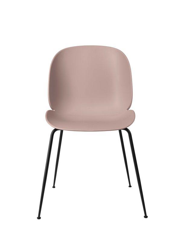 Gubi Beetle stoel met zwart stalen onderstel (Set van 4)