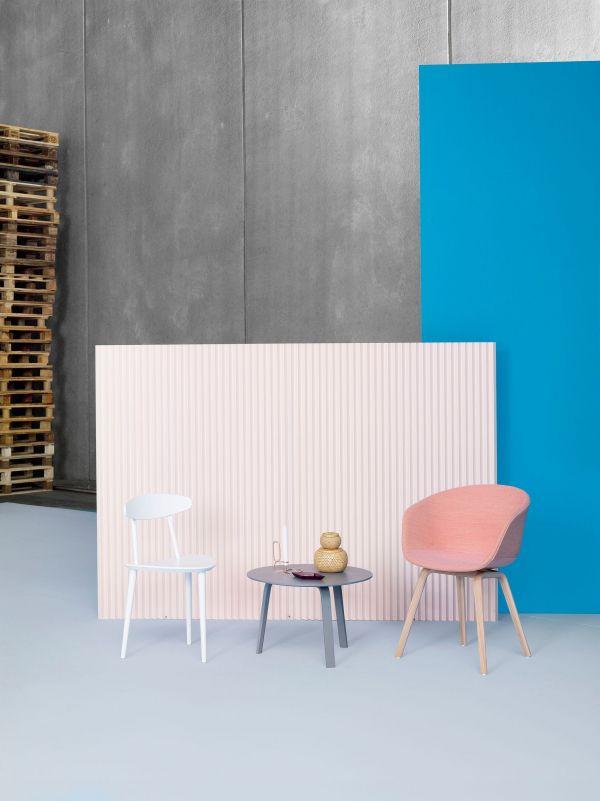 Hay AAC22 stoel, gezeept eiken, kuip wit, Steelcut 865
