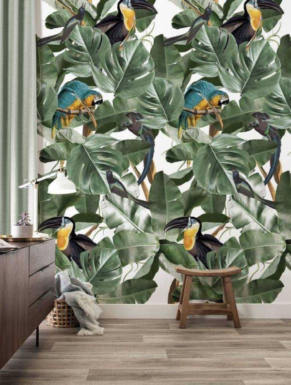 KEK Amsterdam Botanical birds behang