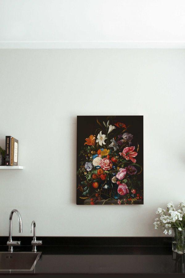 KEK Amsterdam Golden Age Flowers 5 houten wandpaneel