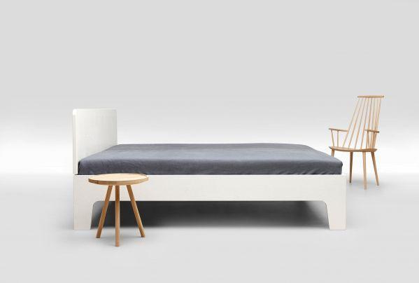 Loof Pure bed met hoofdbord 160x200