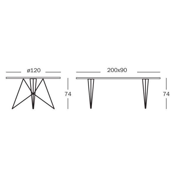Magis Tavolo XZ3 tafel rechthoek 200x90