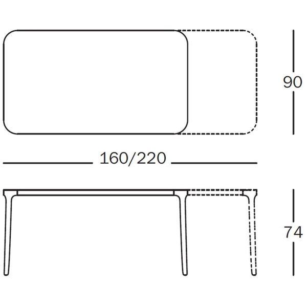 Magis Vanity tafel 220x90