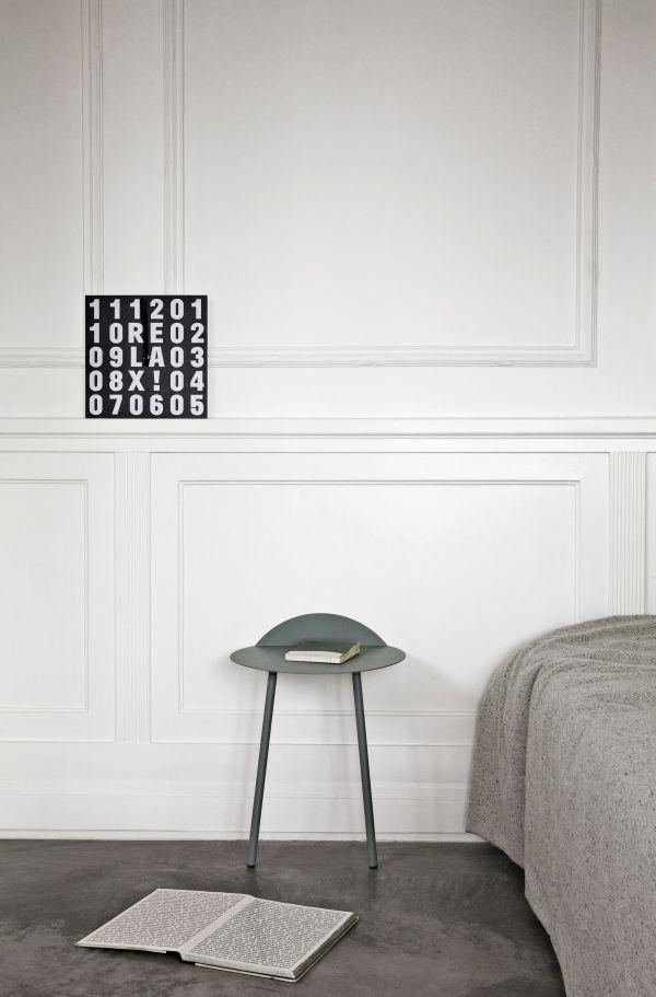 Menu Yeh Wall Tall bijzettafel zwart 55x44