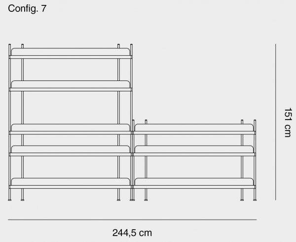 Muuto Compile 7 stellingkast