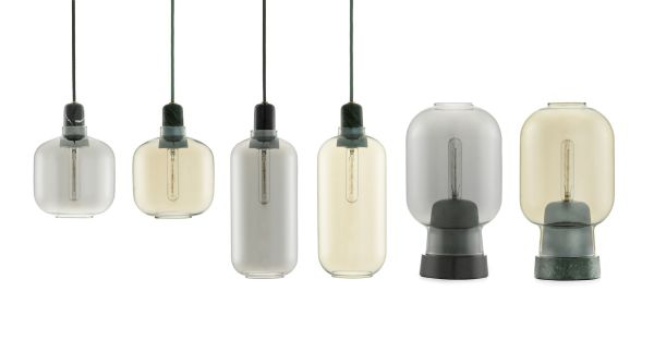 Normann Copenhagen Outlet - Amp Lamp hanglamp small smoke/zwart