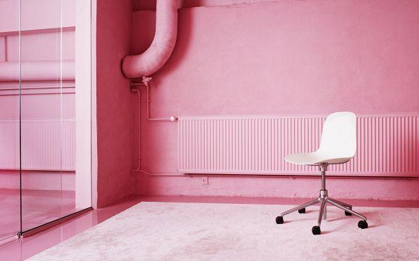 Normann Copenhagen Form Chair Swivel stoel met aluminium onderstel