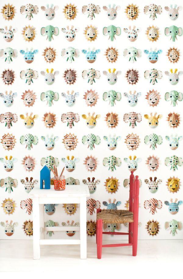 Studio Ditte Wilde Dieren behang lief