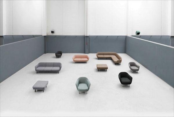 Normann Copenhagen Sum fauteuil zwart onderstel