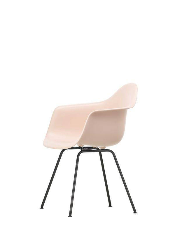 Vitra Eames DAX stoel zwart gepoedercoat onderstel, nieuwe kleuren