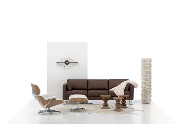 Vitra Eames Lounge chair met Ottoman fauteuil (nieuwe afmetingen) sneeuwwit