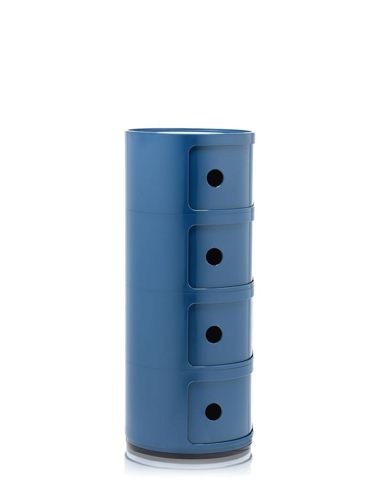 Kartell Outlet - Componibili kast rond extra large (4 comp.) rood