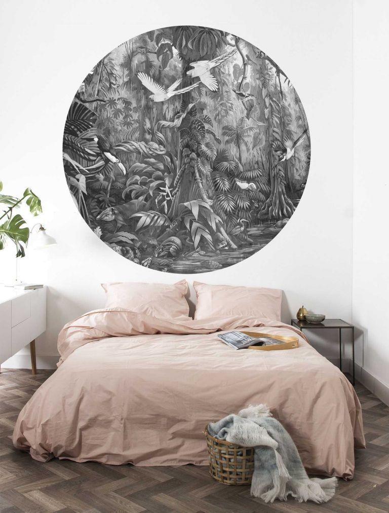 KEK Amsterdam Tropical Landscapes behangcirkel zwart-wit